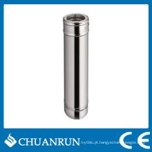 Tubo reto de parede dupla de aço inoxidável para fogões a pellets