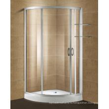 Алюминиевый профиль стеклянная дверь ливня с полкой Шампунь