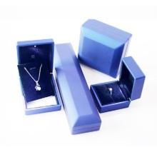 Caja de embalaje de anillo de collar de cuero de PU personalizado