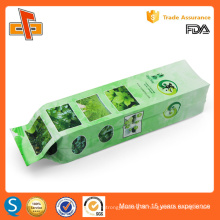 FDA approved custom printing chinese side gusset empty green tea bag packing