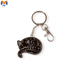 Cheap metal keyring with lobster clasp