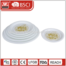 restauration des assiettes plates, assiettes blanches à bas prix pour restaurant