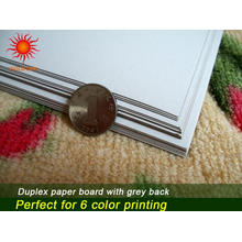 Duplex Board mit grauer Rückseite