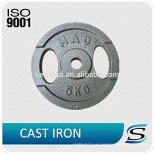 placa de peso de hierro fundido 10 libras 5 kg