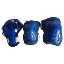 Azul, protetor, jogo, criança, patinação