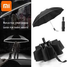 Xiaomi 2021 Fashion Portable UV Folding Automatic Umbrella Rain Wind Resistant Trip Sun Umbrellas Reverse Umbrella For Xiaomi