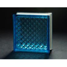 190 * 190 * 80mm blauer Gitter-Glas-Block verwendet, um zu dekorieren & AS / NZS2208: 1996