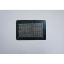 Plata sobre rejilla de aluminio Sheen negro