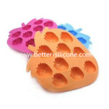 Molde de bolo de silicone em forma de fruta profissional