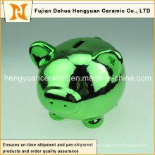 Многоцветный гальванических керамических свинья Копилка для домашнего украшения