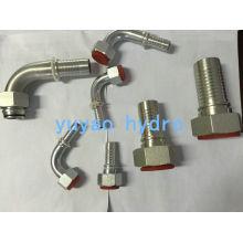 DIN Adaptador de montagem de mangueira hidráulica em aço inoxidável