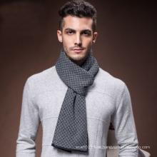 Moda masculina de inverno lã quente lenço longo tecido (yky4610)