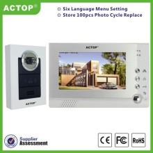 7-дюймовый проводной видеодомофон ночного видения