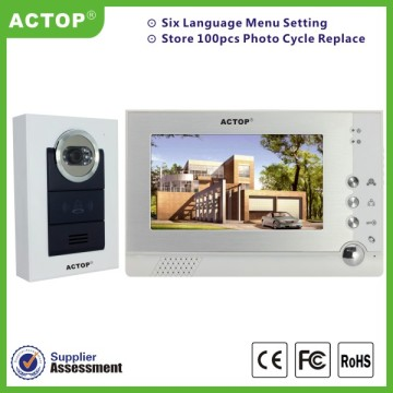 Night Vision 7 Inch Kawat Video Pintu Telepon