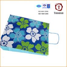Bolsa de compras de papel decorativo elegante, saco de presente de papel, saco de papel