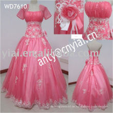 WD7610 Prinzessin weiß und rosa Brautkleider