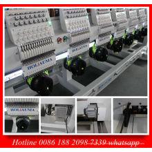 Holiauma venda quente oito cabeça Cap máquina de bordar com 15 agulha para bordado liso uniforme Ho1508c
