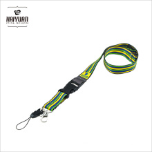 Factory Direct Supply Polyester Sublimation Lanyard with Cell Phone Clip