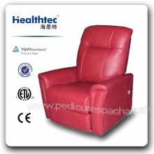 Chaise à élévateur pivotant en cuir de luxe en cuir véritable (D08-C)