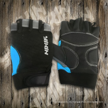 Guante de caballero-medio guante de dedo-guantes de PU-guante de deporte-guante de seguridad