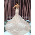 wholesale korea style big tail flower floral white color beaded lace luxury wedding dress