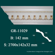 Home Decor Polyurithane Crown Moulding for Modern Construction