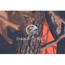 Twill poli tecido com camuflagem da floresta de impressão (ZCBP264)