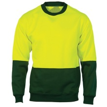 high visibility reflective safety fleece sweatshirt