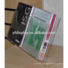 Klare billige Acryl-Prospekthalter, Acryl-Magazin-Halter zum Verkauf