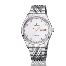 Дешевые ювелирные изделия из нержавеющей стали недели и даты отображения пара наручные часы