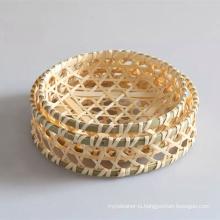 High Quality Handmade Natural Bamboo Basket (BC-NB1003)