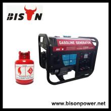 BISON (CHINA) BS2500NGLC Fábrica Gasolina Gas Gerador Set