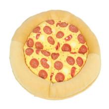 Cross-border new creative pet warm pizza sounding mat toy supplies