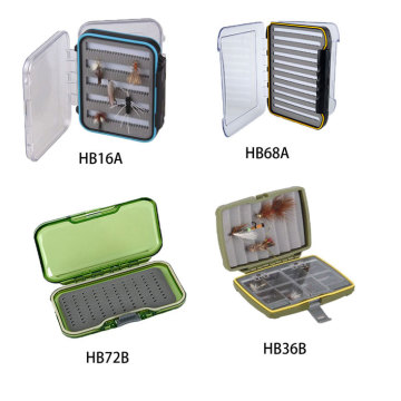 Popular Clear Box Waterproof Fly Box Plastic Material Fishing Box