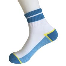 Medio cojín poli moda cuartos rayas calcetines (jmpq06)