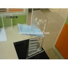 Clear Plastic Tabletop CD Display Rack