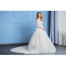 Lace Princess Long Sleeve Muslim Wedding Gowns