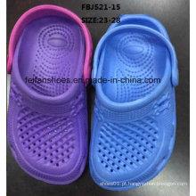 Os calçados de moda os mais atrasados do calçado de jardim de EVA do projeto para crianças (FBJ521-15)