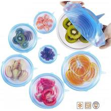 Freezer microwave safe non-spill silicone stretch lids