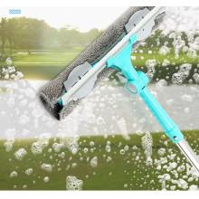 Fang Xiaoya varilla telescópica raspador de cepillado de doble cara herramienta de limpieza de ventanas de limpieza de gran altura artefacto de vidrio hogar
