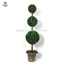 yiwu potted artificial topiary ball tree for home garden decoration