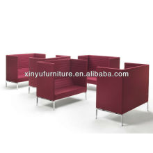 Modern italian stripes maxi hotel bar small sofa sets XY0342