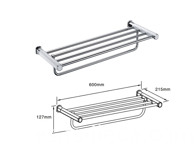 Metal towel rack for hotels