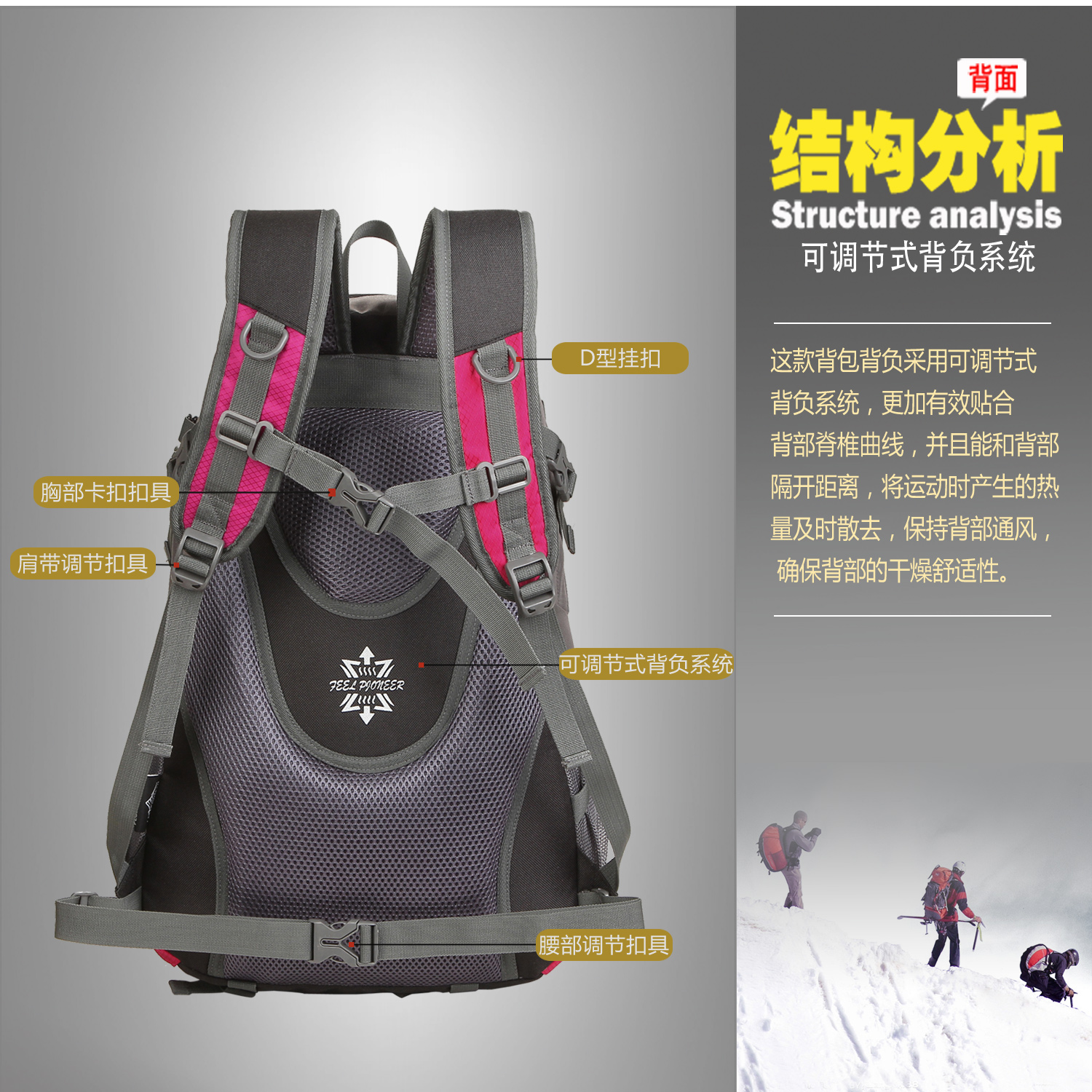 Hiking solar soprt backpacks