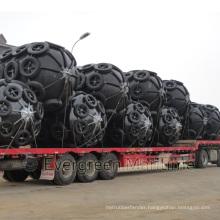 D=3300mm EL=6500mm Yokohama Floating Pneumatic Fenders/ Sling Type and Tire Net