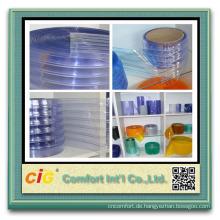 Hohe Qualität weich transparent verschiedene Breite PVC Streifen Vorhang