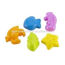 PE Mini plastic play set wholesale sea creatures sand beach toy set