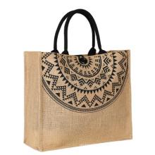 Multi specification Natural burlap eco friendly tote bags reusable jute shopping bag