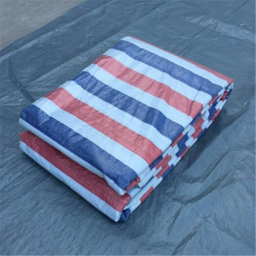 100%Virgin Material Stripe PE Tarpaulin Fabric