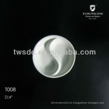 porcelain divided soy sauce dish for hotel and restaurant